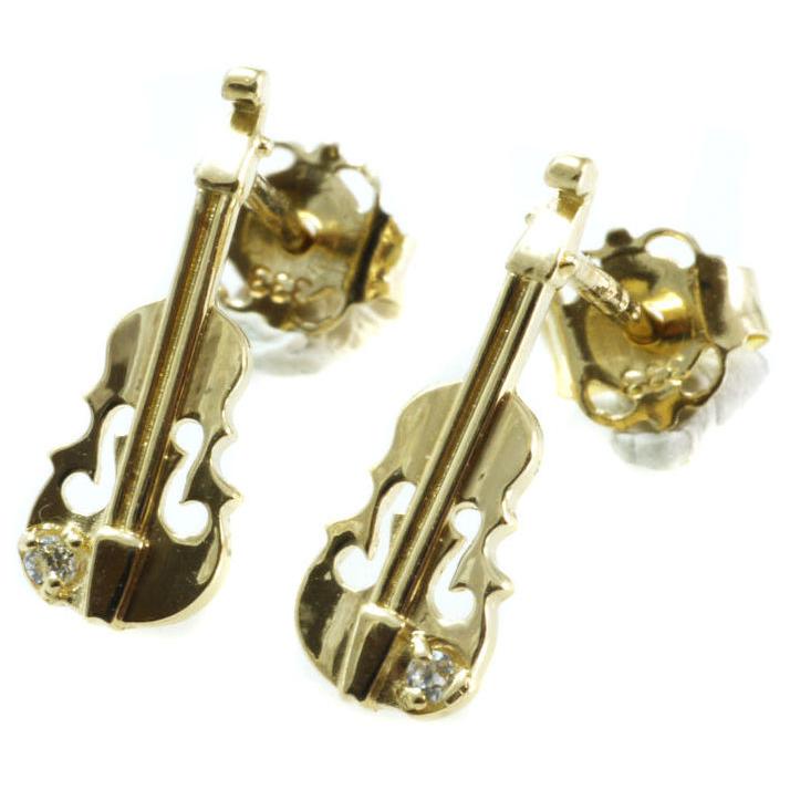 333 Gold Ohrstecker 1 Paar 8 mm Grösse mit gefassten Zirkonia Steinen